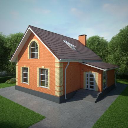 Простые одноэтажные дома фото