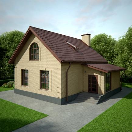Дом из бруса со вторым светом 8х12 под ключ — купить